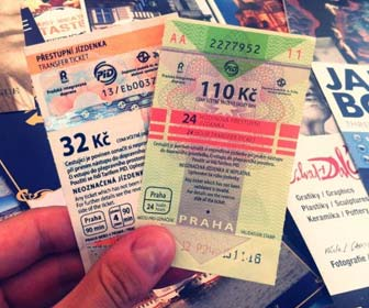 Billetes transporte Praga
